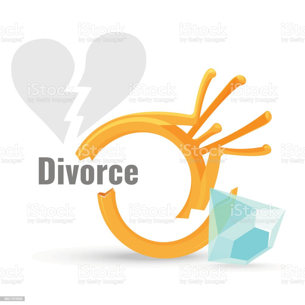 Divorce Concept Illustration With Broken Engagement Ring Stock Illustration Download Image Now Istock
