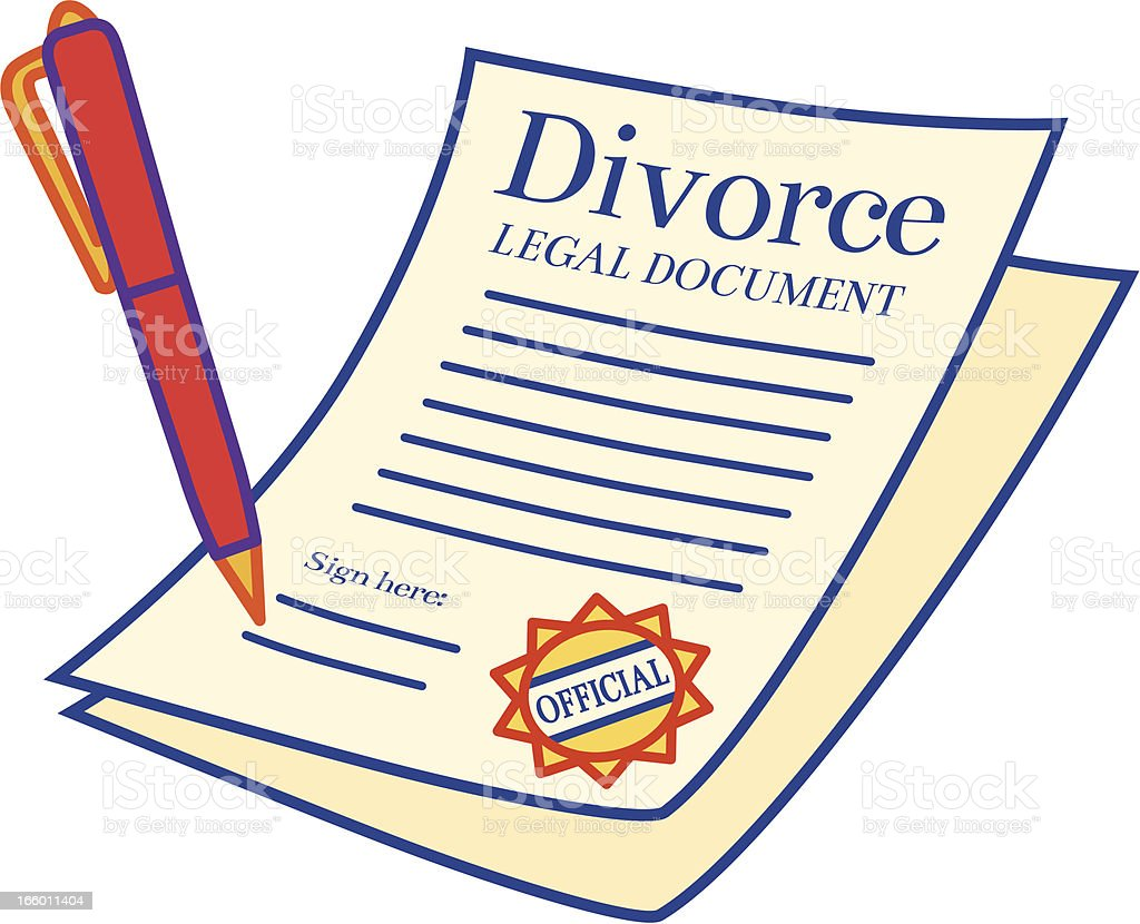 Divorce Papers Stock Illustration - Download Image Now ...