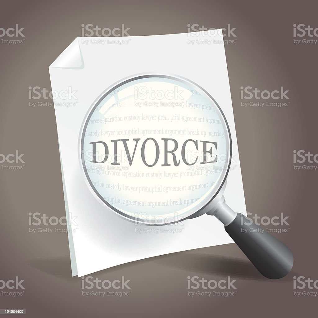 Divorce royalty-free stock vector art