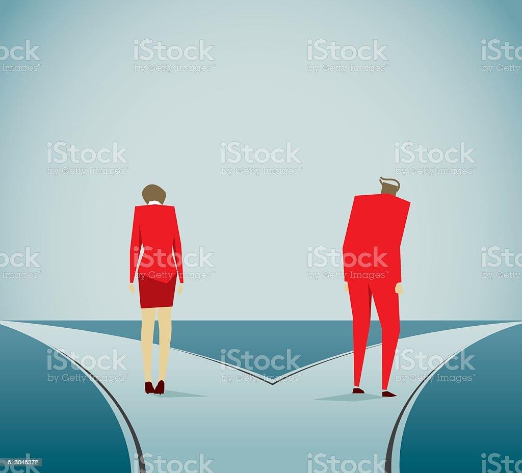 Divorce vector art illustration