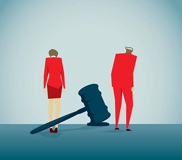 illustrazioni stock, clip art, cartoni animati e icone di tendenza di divorzio - divorce