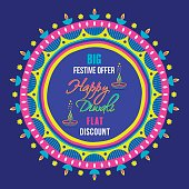 creative big festive banner design ,diwali festival offer