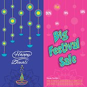 diwali big festive sale banner design