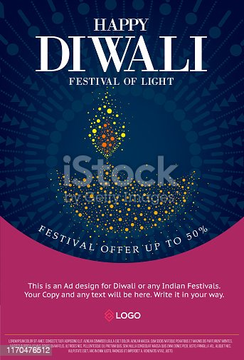 Diwali celebration promotional design  Poster