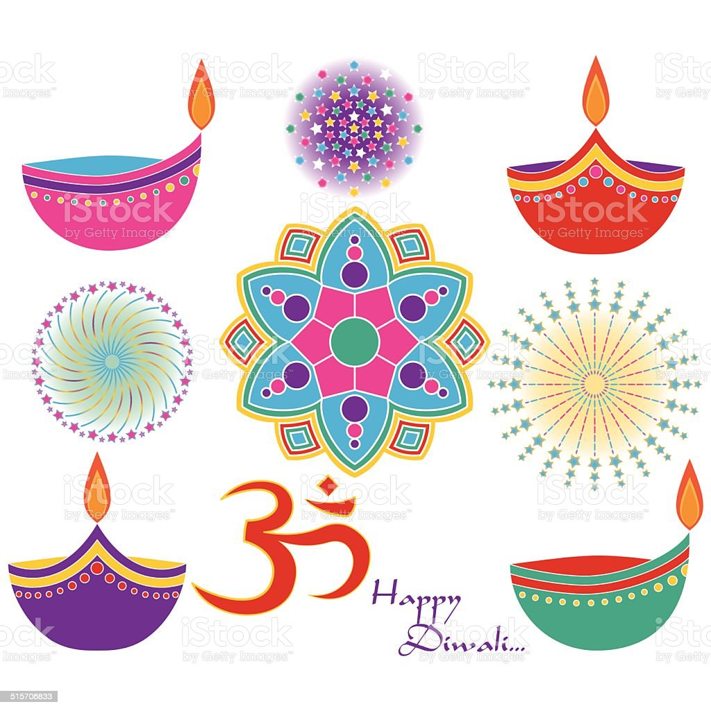 Diwali Clip Art stock vector art 515706833 | iStock for Oil Lamp Clip Art  545xkb