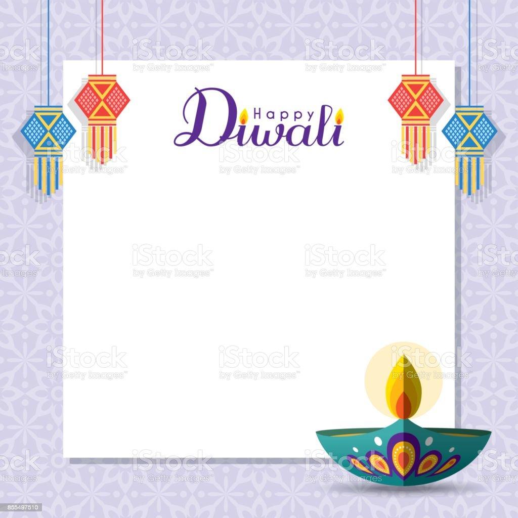 Diwali copy space 2 vector art illustration