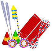 Diwali Crackers in this file all elements separate grouped and separate layered and easy to edit