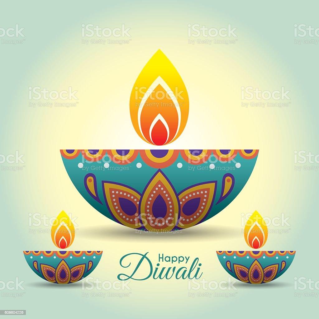 Diwali diya 3 - Illustration vectorielle