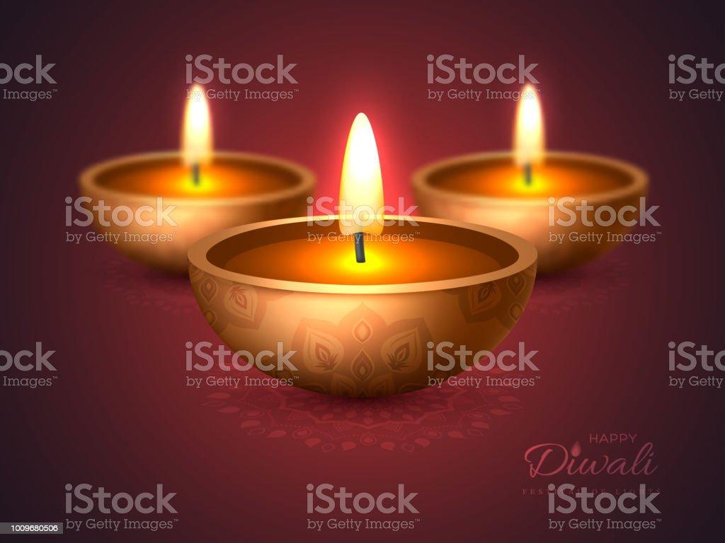 Diwali Diya Lampe A Huile Creation De Vacances Pour La