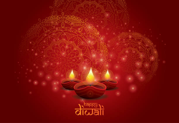 diwali festival background design template - diwali stock illustrations, clip art, cartoons, & icons
