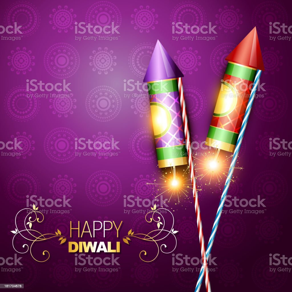 diwali festival cracker royalty-free stock vector art