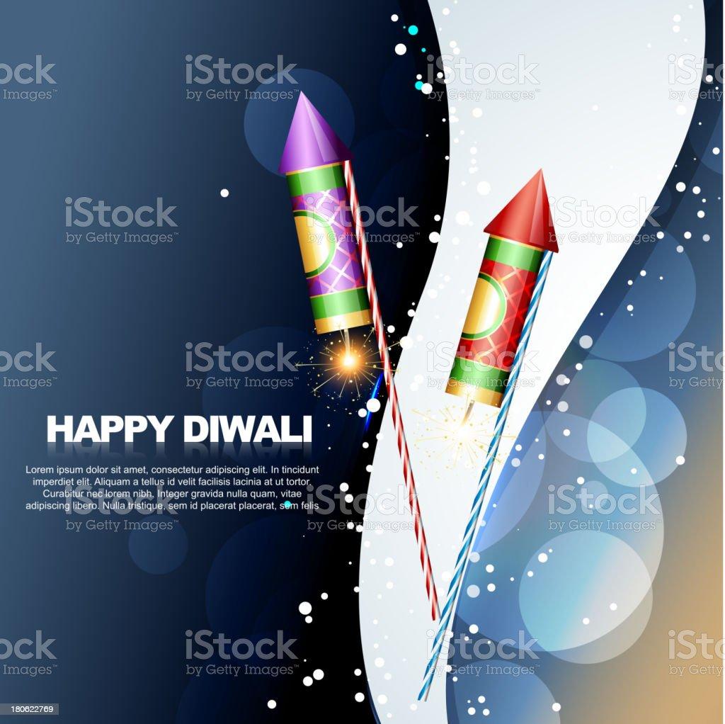 diwali festival crackers royalty-free stock vector art