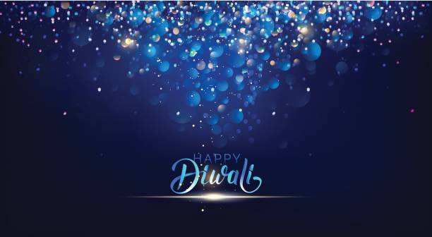 diwali festival lights poster. - diwali stock illustrations, clip art, cartoons, & icons