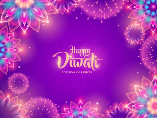 diwali festival of lights. indian holiday. - diwali stock illustrations