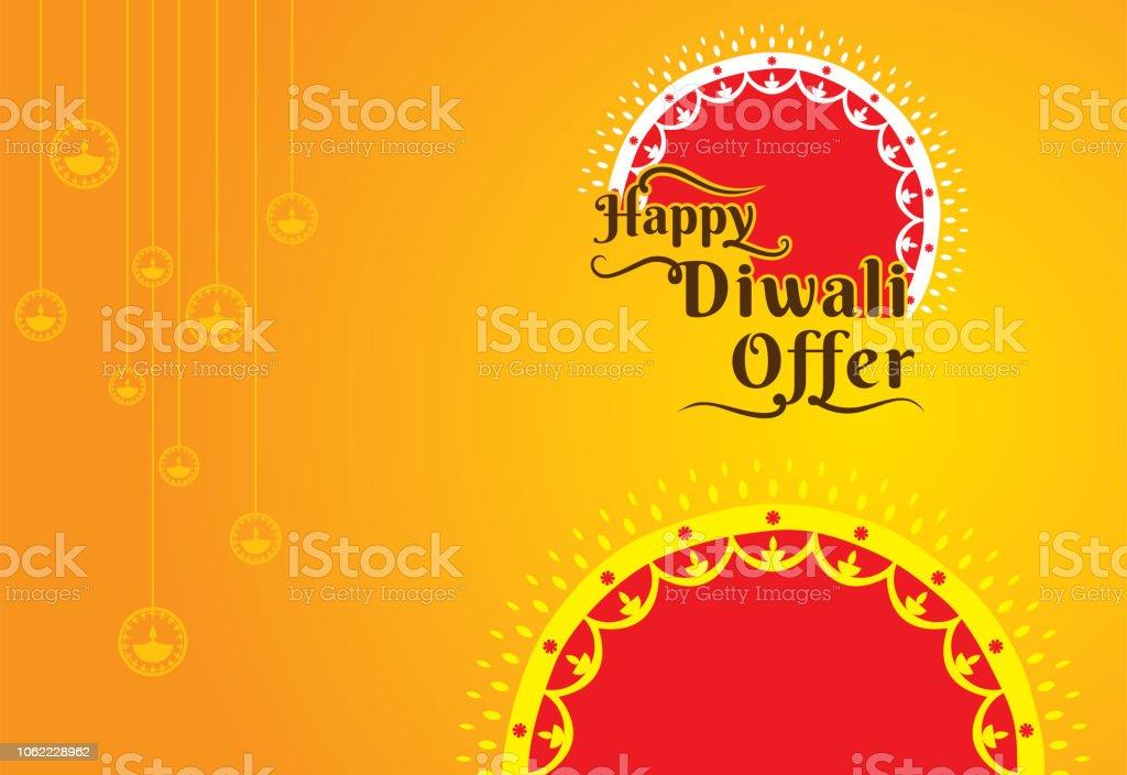 Diwali Festival Offer Banner Design Stock Illustration