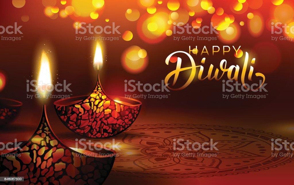 Diwali Festival Plakat. – Vektorgrafik