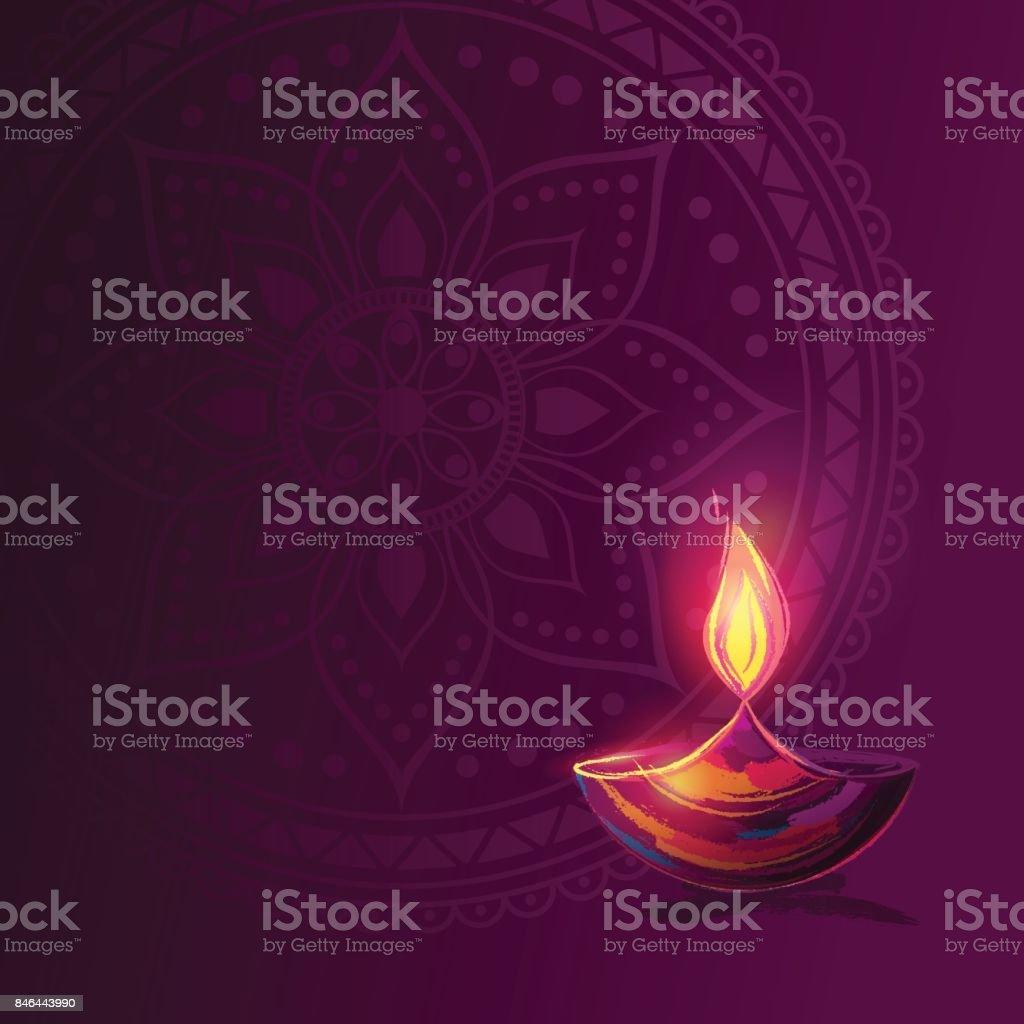 Diwali festival poster. vector art illustration