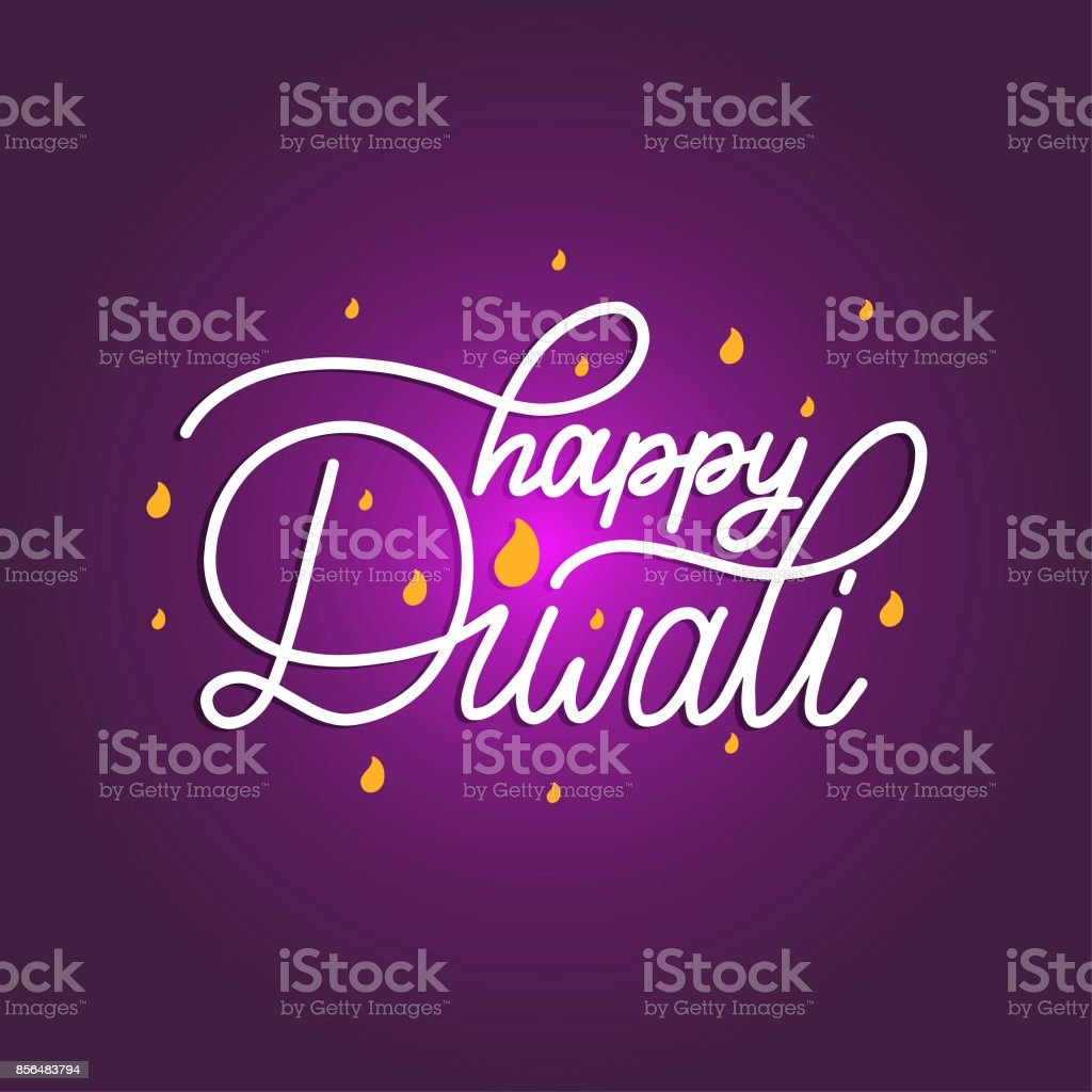 Diwali festival poster with hand lettering vector illustration for diwali festival poster with hand lettering vector illustration for indian holiday greeting or invitation card stopboris Images