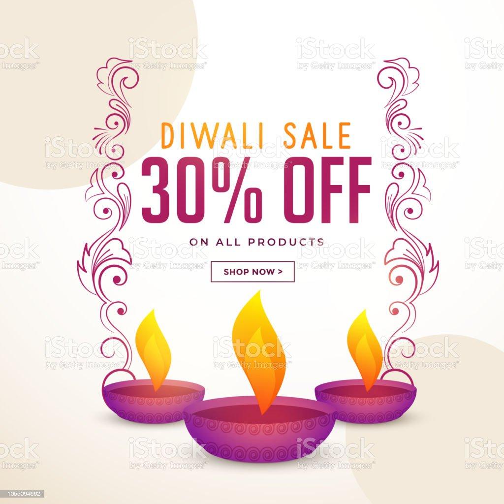 Diwali Festival Verkauf Und Angebot Plakat Designvorlage Stock