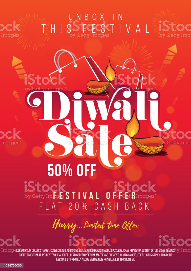 diwali festival sale poster flyer design layout template a4 size
