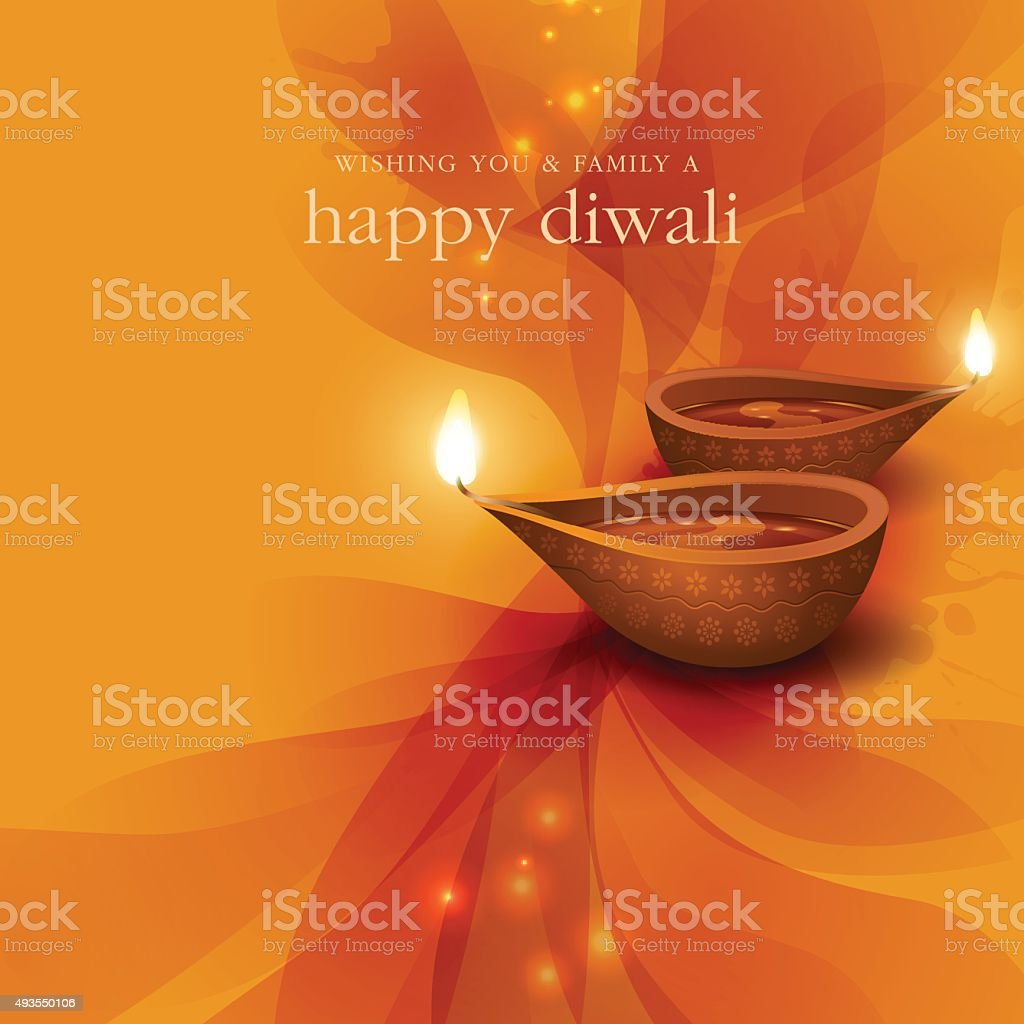 Diwali festive background vector art illustration