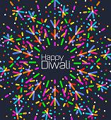 Fireworks back ground for Diwali Greeting