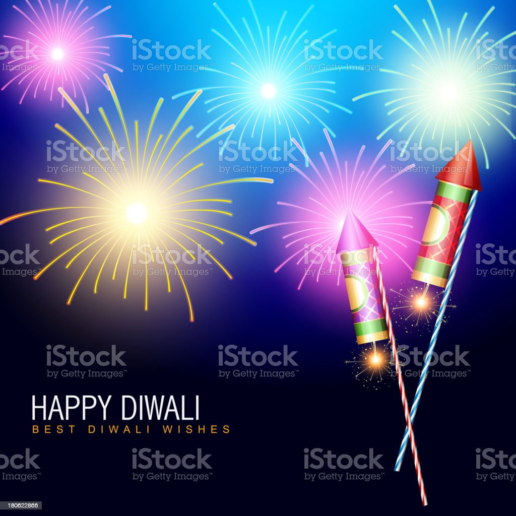diwali fireworks royalty-free stock vector art