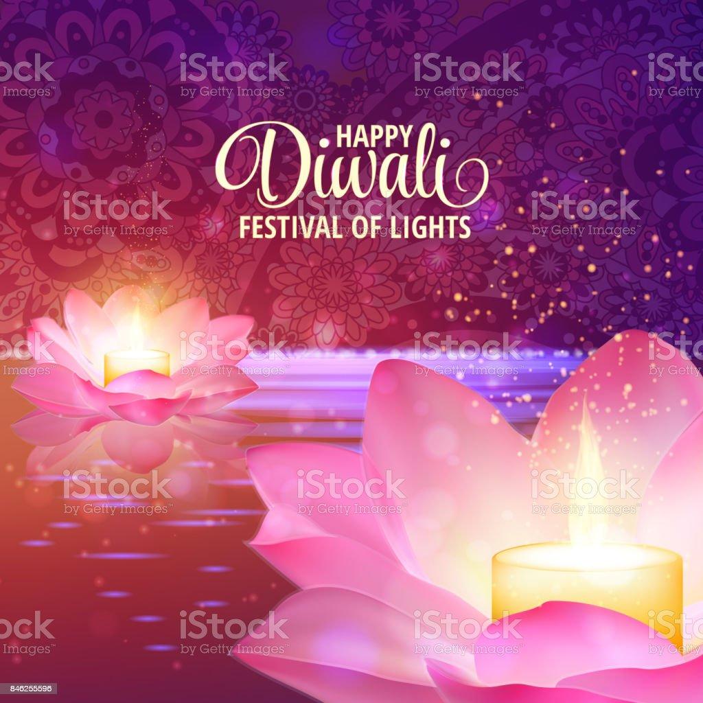 Diwali Greeting Background 3d Vector Festival Of Lights Illustration