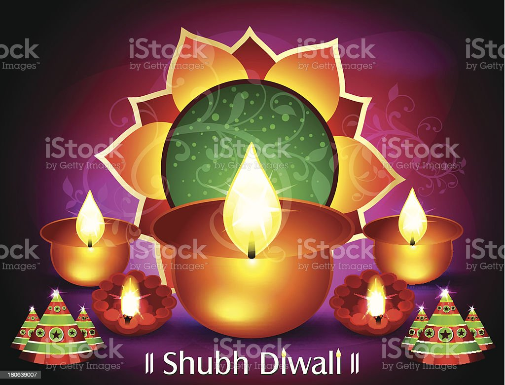Diwali Greeting Card Stock Vector Art More Images Of Abstract