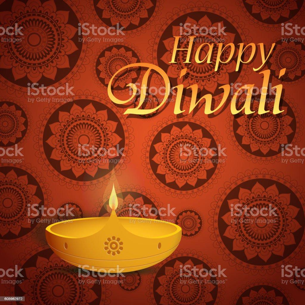 Diwali Greeting Card Stock Vector Art More Images Of Celebration