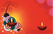 Diwali festival Greeting with lot of copy space..very useful for print,greetings and web.