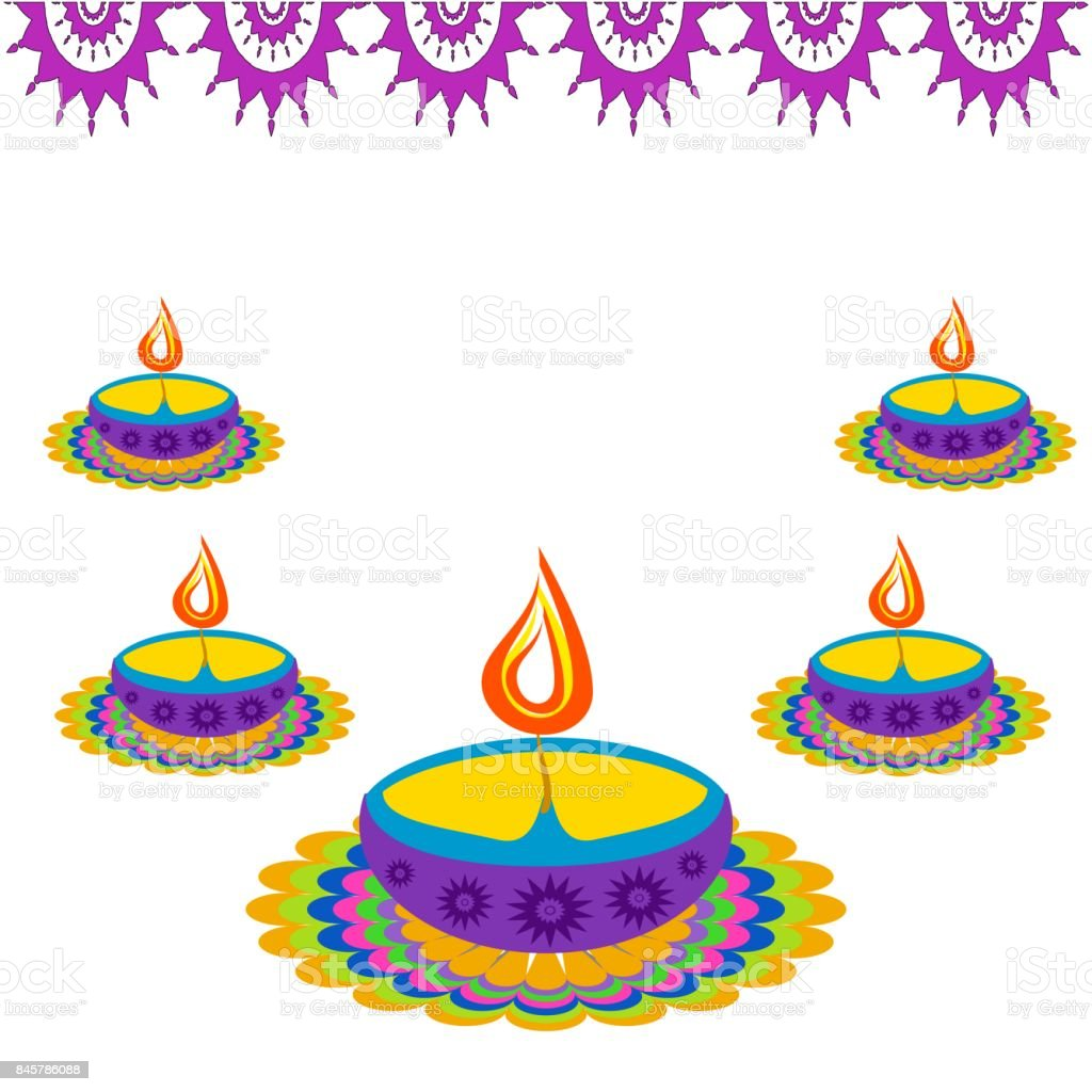 Diwali Greetings Stock Vector Art More Images Of Abstract