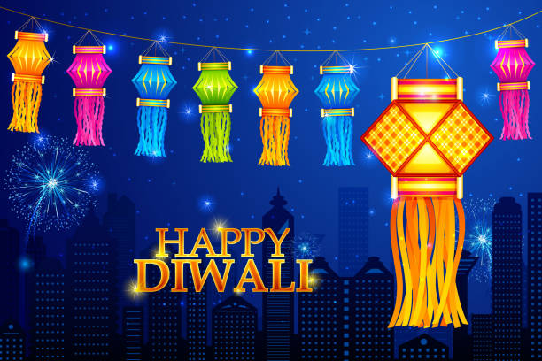 royalty free diwali lantern clip art vector images illustrations