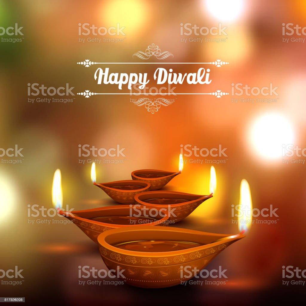 Fond de Diwali fêtes de fin d'année - Illustration vectorielle