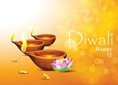 Diwali Holiday greeting card.