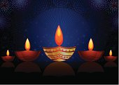 Diwali festival Greeting .Lot of copy space,very useful for print,greetings and web banner.