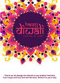 Diwali poster design template