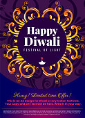 Diwali Social Network story template.