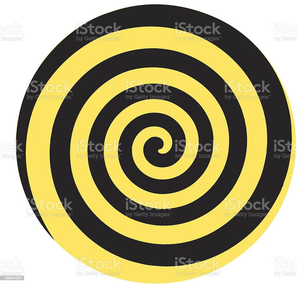 Dizzy twirl vector art illustration