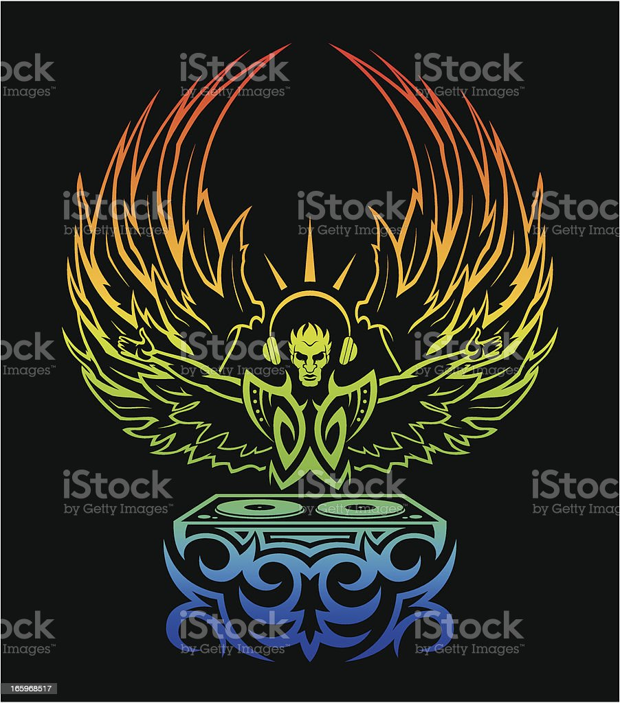 Dj Angel royalty-free stock vector art