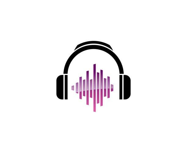 ilustrações, clipart, desenhos animados e ícones de ícone de dj - podcast
