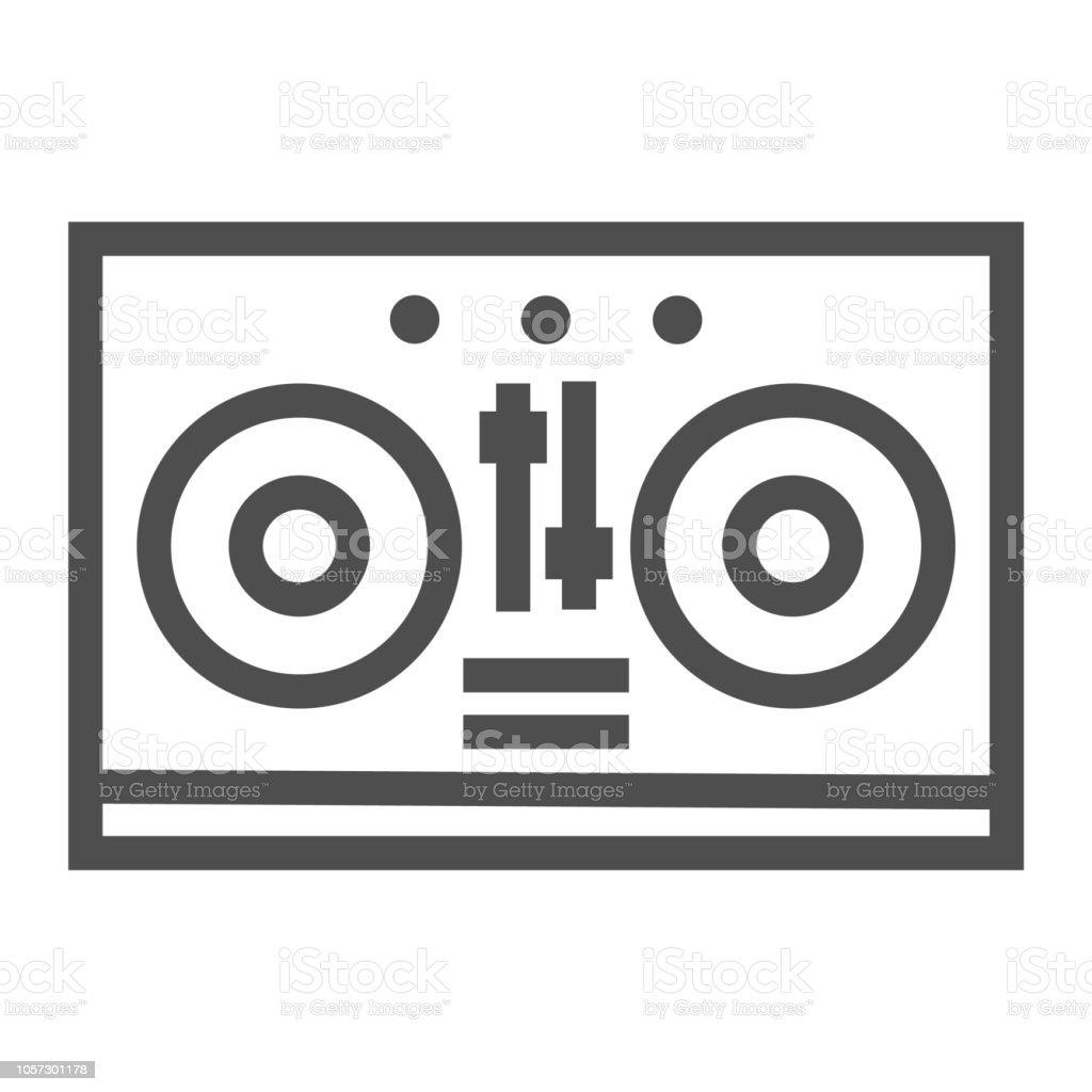 Icône De Ligne De Table De Mixage Dj Musique Et Sons Signe