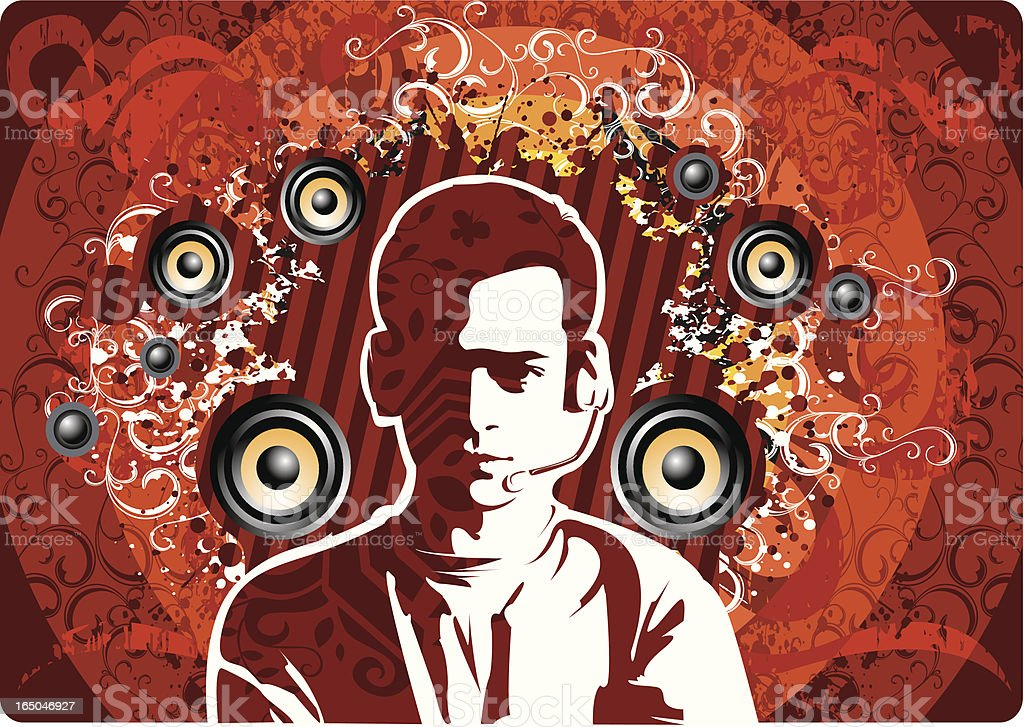 Dj music design royalty-free stock vector art