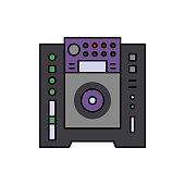 Dj, player, audio icon. Element of color music studio equipment icon. Premium quality graphic design icon. Signs and symbols collection icon
