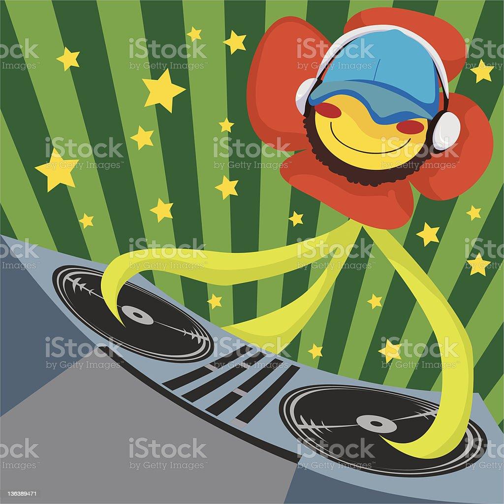 Dj Poppy Flower royalty-free dj poppy flower stock vector art & more images of activity