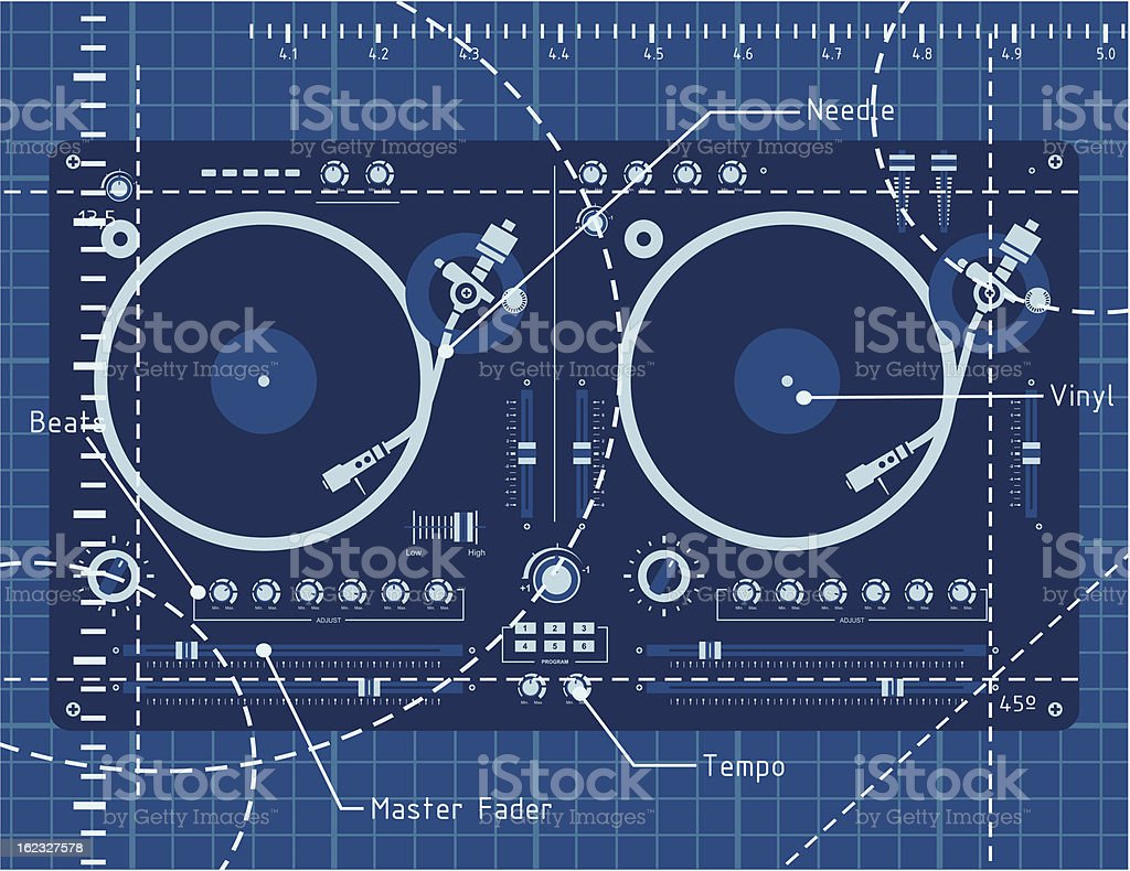 Dj scratch vector art illustration