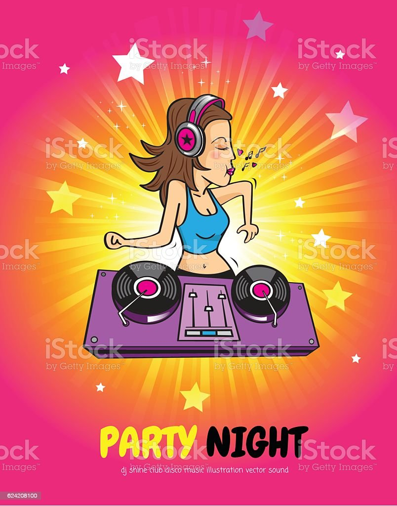 Dj Shine Disco Music Club Stock Illustration - Download Image Now