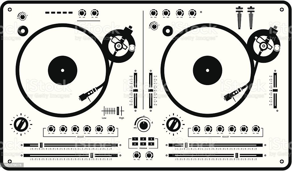 royalty free turntable clip art  vector images