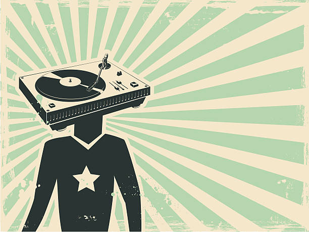 stockillustraties, clipart, cartoons en iconen met dj - popmuzikant