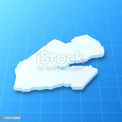 istock Djibouti 3D Map on blue background 1203433865